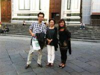 東京からお越しの渋谷様ご夫妻  フィレンツェ工房見学と観光一日
